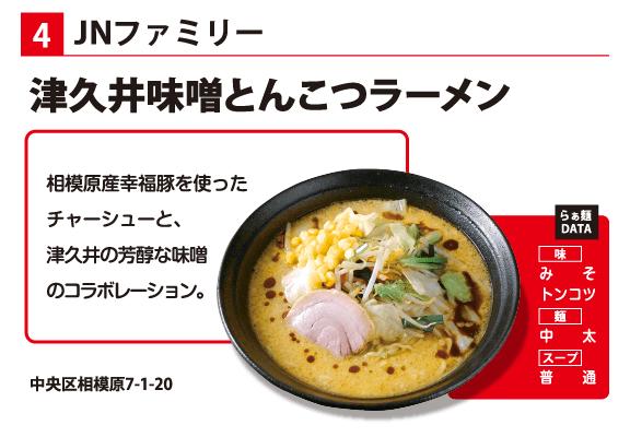 JNファミリー 津久井味噌とんこつラーメン