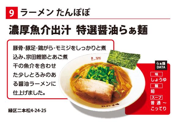ラーメンたんぽぽ 濃厚魚介出汁 特選醤油らぁ麺
